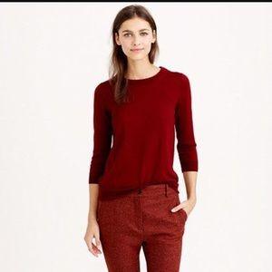 J Crew Maroon Sweater